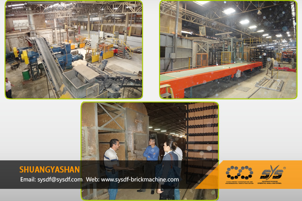 300t/day Brick Production Line for Brazil